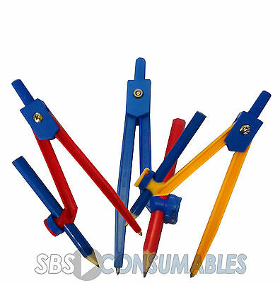 Handy Pack Compass and Pencil Set - School Maths Geometry. 3 Colours Available