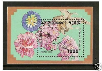 Cambodia - 1993 Wild Flowers sheet - MNH - SG MS1286
