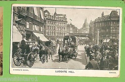 #g.   1905   Postcard -  Ludgate  Hill, London Sent To Rozelle