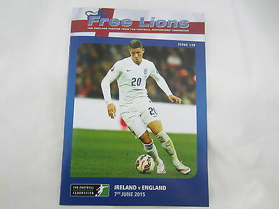 2014-15 FRIENDLY INTERNATIONAL FREE LIONS ISSUE REPUBLIC OF IRELAND v ENGLAND