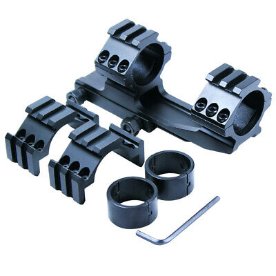 """Tactical 1"""" 30mm PEPR Style Cantilever Rifle Scope Mount - Extra Tri-rail Rings"""