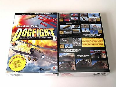 24 Abacus Flight Simulator Software Mission WWI Dogfight Case Lot Brand New