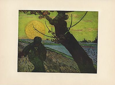 """1952 full Color Art Plate """" The Sower """" by Van Gogh Lithograph Litho"""