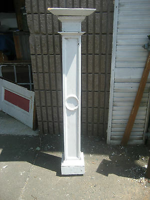 "c1900 SQUARE boxed porch column post SEARS & ROEBUCK house 56"" h x 9"" EGG & dart"