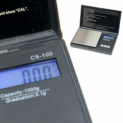 1000g/0.1g Pocket Jewelry Gold Weed Digital Scale Silver
