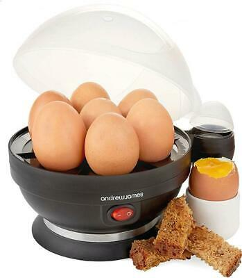Black Electric Egg Cooker - Boiler, Poacher & Steamer By Andrew James