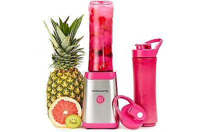 Smoothie Maker Blender Pink Sports Bottle Protein Drinks Shakes By Andrew James