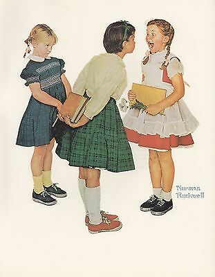 "1977 VINTAGE ""CHECKUP"" LOST TOOTH NORMAN ROCKWELL MINI POSTER COLOR Lithograph"