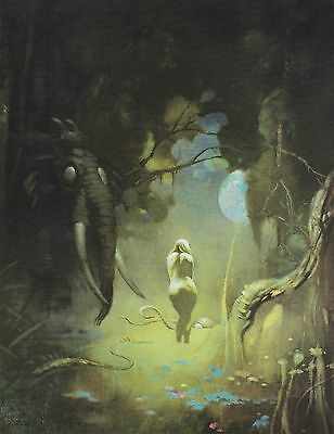 "1985 Full Color Plate ""Swamp Demon"" by Frank Frazetta Fantastic GGA"