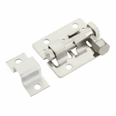 "Stainless Steel Gate Lock Safety Door Barrel Bolt Latch Hasp Stapler 1.5"" Long"