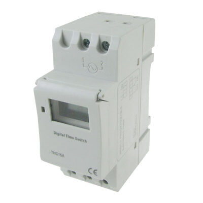 Din Rail Mount Digital Weekly Programmable Timer DC 24V Time Relay Switch