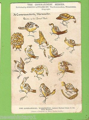 #G.    Bird  Postcard -  Stained Glass, The Commandery, Worcester
