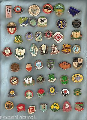 #d76.  Collection Of 50 Netball Lapel Badges