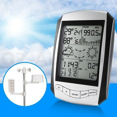Full Data Range Professional Wireless Weather Station Set with Time Display 100M