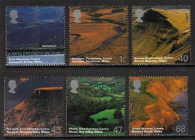 Gb Mnh 2004 Sg2466-2471 A British Journey: Wales Set Of 6