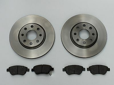 Vauxhall Corsa D 2006- 1.2 1.3 1.4 Front Vented Brake Discs And Pads