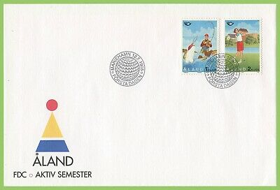 Aland 1995 Postal Cooperation, Tourism First Day Cover