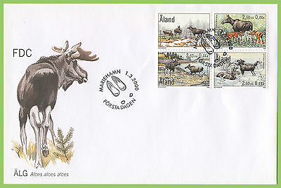 Aland 2000 The Elk set First Day Cover
