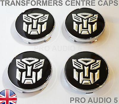 4x TRANSFORMERS WHEEL CENTRE CAPS 60mm Universal Center - UK