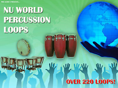 Nu World Percussion - Exotic Global Ethnic Loops Sample CD Wav