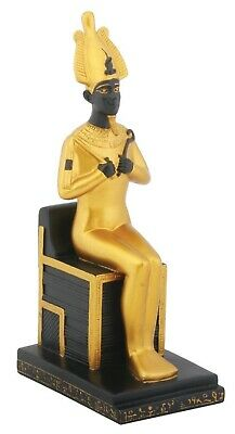 "Sitting Goddess Osiris on Throne Ancient Egyptian Sculpture Summit Figurine 7""H"