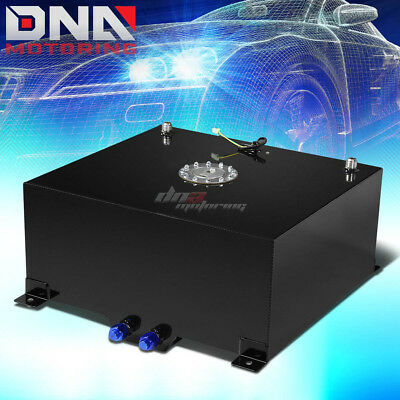 20 Gallon/76L Black Aluminum Racing/drift Fuel/gas Cell Tank+Cap+Level Sender