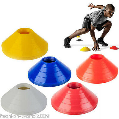 10 x Football Rugby Sport Cross Training Space Marker Soccer Disc Cone Saucer