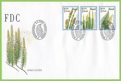 Aland 2001 Plants set First Day Cover
