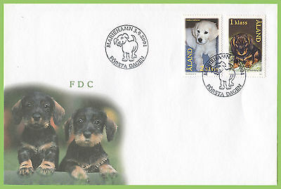 Aland 2001 Puppies set on First Day Cover