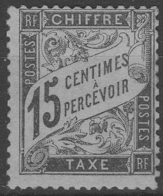 """FRANCE STAMP TIMBRE TAXE N° 16 """" TYPE DUVAL 15c NOIR """" NEUF xx TB SIGNE K590"""