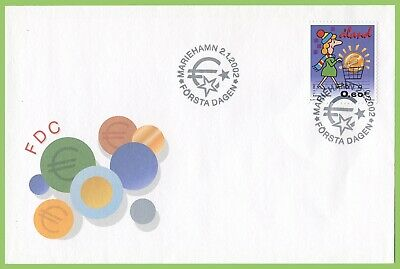 Aland 2002 Euro Currency First Day Cover