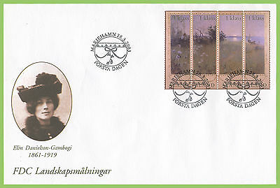 Aland 2003 Elin Danielson Landscape painting First Day Cover