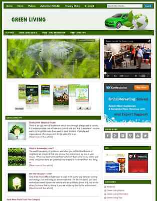 Green Living - Professional Designed Niche Website With Integrated Store
