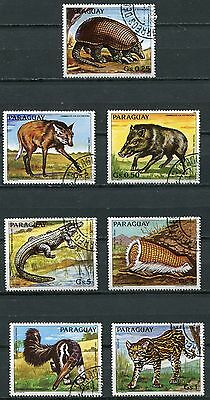 Paraguay 1984 Endangered Animals Complete Set Of 7 Stamps!