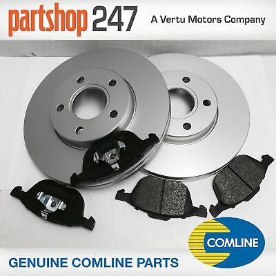 Genuine Comline Ford Focus Mk2 2004-2011 Front Brake Discs & Pads Kit With 280Mm