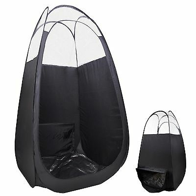 Portable Black Pop Up Spray Tanning Tent Airbrush Sunless Tan Mobile Booth Bag