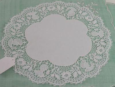 Set Of 7 Exquisite Figural Lace Linen Doilies Pp664