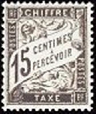 """FRANCE STAMP TIMBRE TAXE N° 16 """" TYPE DUVAL 15c NOIR """" NEUF x TB"""