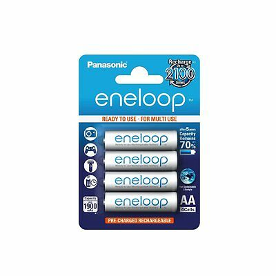 4 Pack Panasonic Eneloop AA LR6 NiMh Rechargeable Batteries Ready to Use 1900mAh
