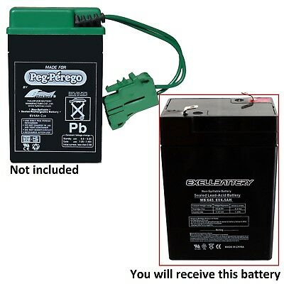 Peg Perego New Replacement Battery 6 Volt 4.5 Ah *new* *fast Usa Ship*