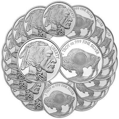 1 oz Sunshine Buffalo Silver Round - (New/Lot/Roll/Tube of 20)