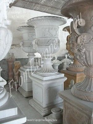 Victorian Style Hand Carved Marble Palace Urns - Urn3
