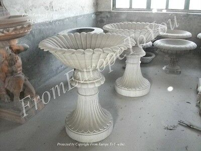 Hand Carved Marble Victorian Style  Pedal Urns - Urn6
