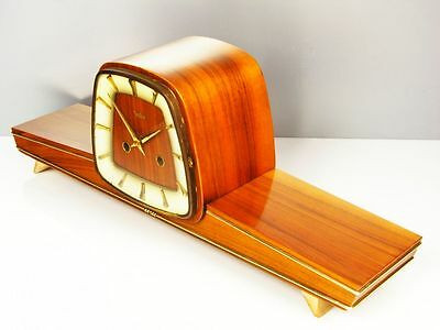 Beautiful Later Art Deco Zentra -   Hermle Chiming Mantel Clock  From 50´s