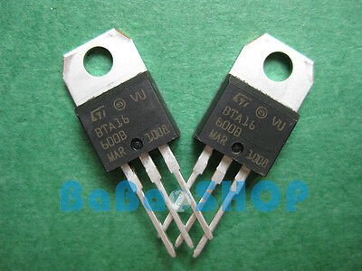 15pcs BTA16-600B BTA16-600 BTA16 TRIAC SGS-THOMSON  600V 16A ST TO-220 Brand New
