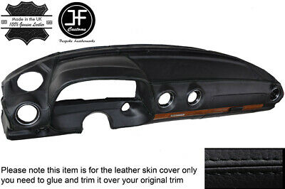 Black Leather Dash Dashboard Leather Cover Fits Mercedes W123 1978-1985