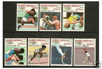 Guinea-Bissau - 1989 Olympic Games set - MNH - SG 1119/25