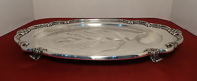 """1847 Rogers Bros REMEMBRANCE Int'l Silver Plated 18"""" Meat Serving Platter w/Well"""