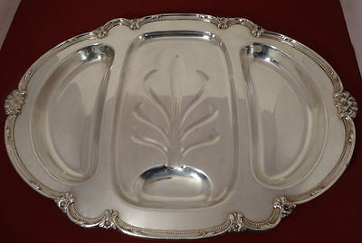 1847 Rogers Bros REMEMBRANCE Int'l Silver Plated Meat & Vegetable 3-Part Platter