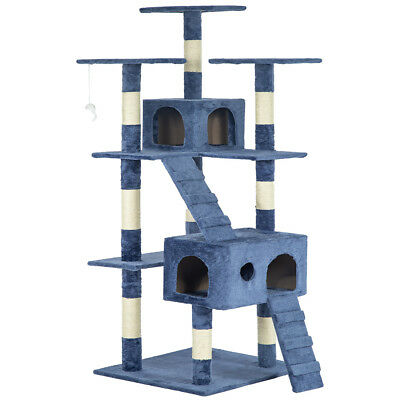 """All Color 73"""" Cat Tree Scratcher Play House Condo Furniture Bed Post Pet House"""